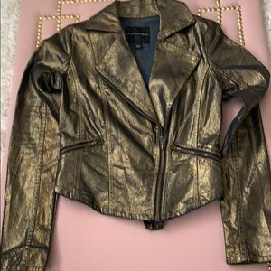 Rock & Republic Metallic Gold & Black Jacket